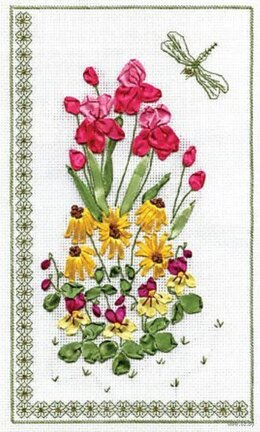 PANNA Flowers Ribbon Embroidery Kit - 18 x 29 cm