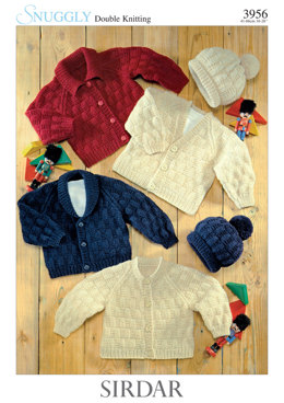 Cardigans and Hats in Sirdar Snuggly DK - 3956 - Downloadable PDF