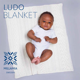 Ludo Blanket in MillaMia Naturally Soft Merino - Downloadable PDF