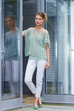 Ladies Crochet Top in Schachenmayr Catania - S8075 - Downloadable PDF