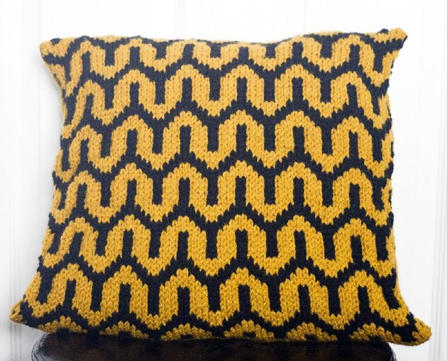 Mohair Cushion Knitting Pattern : Bold Art Deco Pillow Cover Knitting pattern by Kraftling Knitting Patterns ...