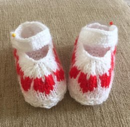 Queen of Hearts Shoes and Bonnet Prem Baby and 0-3mths