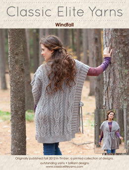 Windfall Poncho in Classic Elite Yarns Woodland - Downloadable PDF