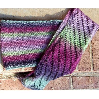 On the Up and Up cowl AND Slightly Biased scarf