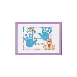 Janlynn Special Moments Mini Counted Cross Stitch Kit - Baby Handprints (14 Count)