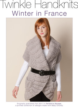 Winter in France Vest in Classic Elite Yarns Twinkle Baby Chunky - Downloadable PDF