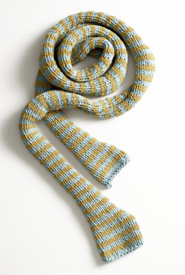 Jumbo Cotton Stripes Scarf in Lion Brand Cotton-Ease - 80907AD
