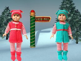 Santa's Elves, Knitting Patterns fit American Girl and other 18-Inch Dolls