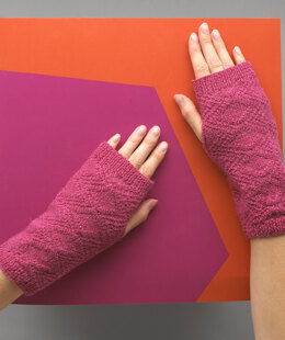 Ame Wrist Warmers - Knitting Pattern For Women in MillaMia Naturally Soft Sock