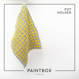 Pot Holder in Paintbox Yarns Recycled Cotton Worsted - Downloadable PDF