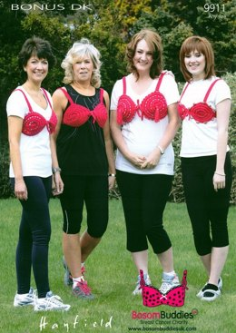 Moonwalk Breast Cancer Charity Bra in Hayfield Bonus DK - 9911