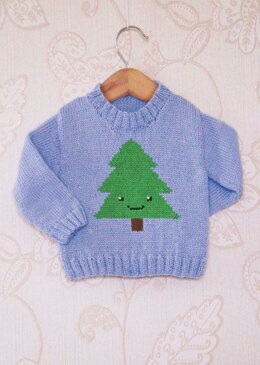 Intarsia - Simple Christmas Tree Chart & Childrens Sweater