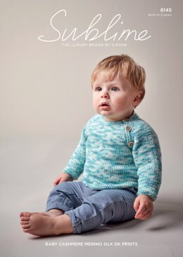 Sweater in Sublime Baby Cashmere Merino Silk DK Prints - 6145 - Downloadable PDF