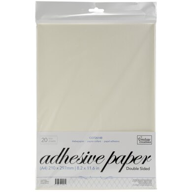 Artdeco Creations Couture Creations A4 Double-Sided Adhesive Jac Paper 20/Pkg - 444597