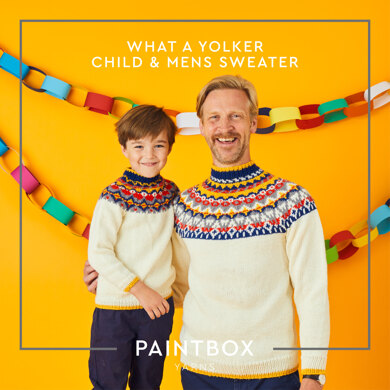 """"""" What a Yoker """" - Free Sweater Knitting Pattern For Boys and Men in Paintbox Yarns Wool Mix Aran by Paintbox Yarns"""