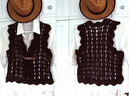 704 CROCHET SHRUG VEST, women and teens