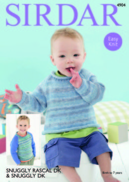 Sweaters in Sirdar Snuggly Rascal DK & Snuggly DK - 4904 - Downloadable PDF
