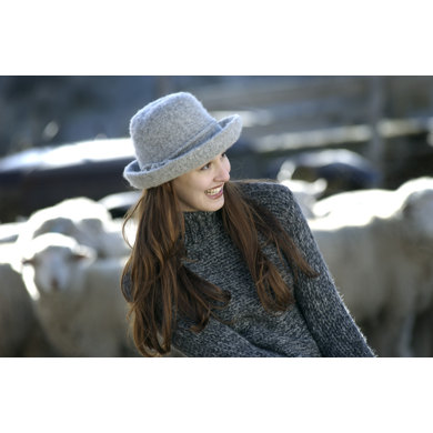 Original Felted Hat in Imperial Yarn Native Twist - P101 - Downloadable PDF