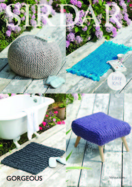 Rug and Stool Cover in Sirdar Gorgeous - 7965 - Downloadable PDF