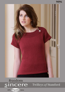 Knitted Boat Neck Top in Twilleys Freedom Sincere DK - 9096