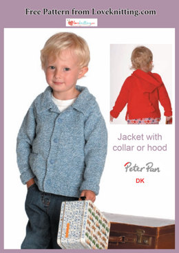 Jacket with Collar or Hood in Peter Pan DK