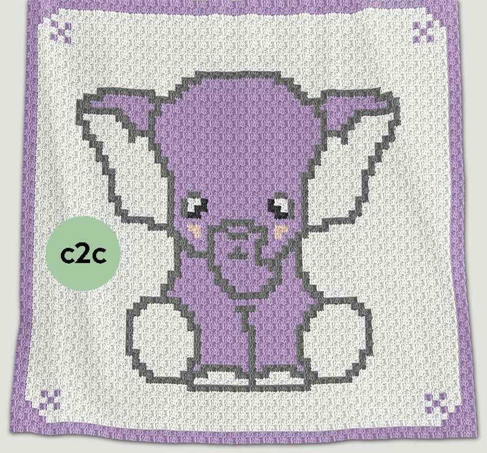 Elephants - Animal Crochet Pattern Round Up - Rebeckah's Treasures | 930x1000
