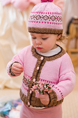 Fair Isle Cardigan & Hat in Tahki Yarns Cotton Classic