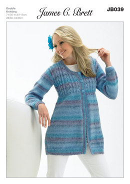 Coat in James C. Brett Marble DK - JB039