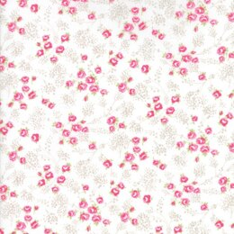 Moda Fabrics First Romance Sugar Plum Floral Cut to Length - Valentine White