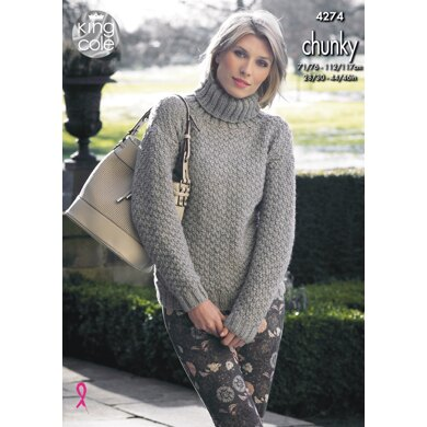 Sweater & Cardigan in King Cole New Magnum Chunky - 4274 - Downloadable PDF
