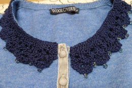 Felicity Vintage Style Knitted and Beaded Collar