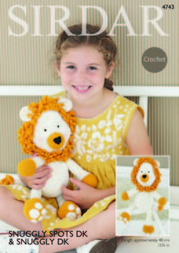 Logan The Lion Toy in Sirdar Snuggly Spots DK & Snuggly DK - 4743 - Downloadable PDF