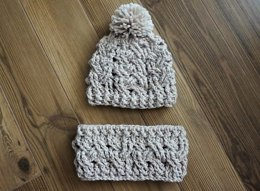 Winter Woven Crochet Hat and Cowl Pattern