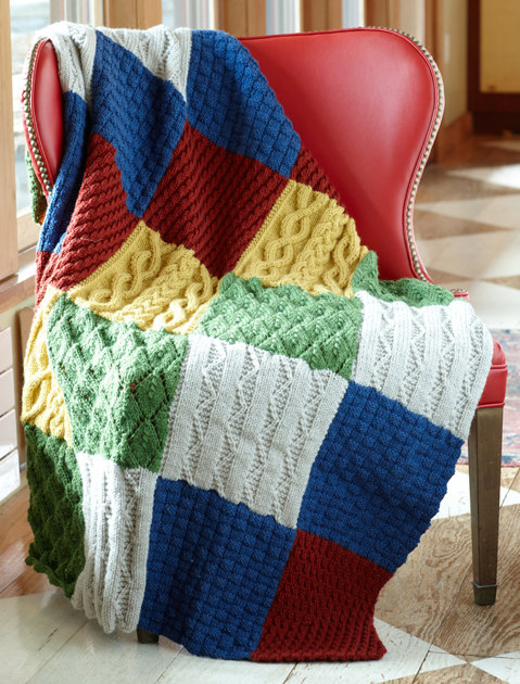 Patch Sampler Throw In Lion Brand Vanna S Choice L0592