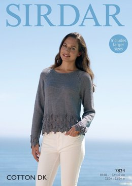 Sweater in Sirdar Cotton DK - 7824- Downloadable PDF