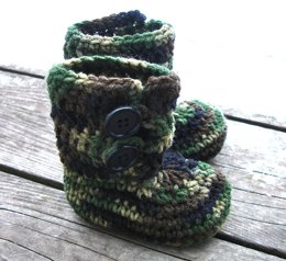 Button Loop Booties - Infant Sizes