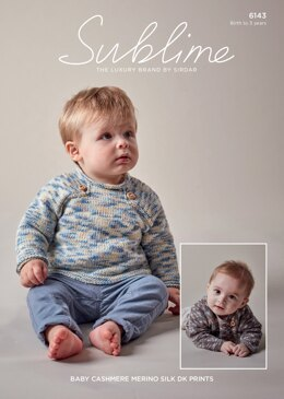Boy's Sweaters in Sublime Baby Cashmere Merino Silk DK Prints - 6143 - Downloadable PDF