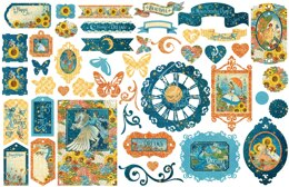 Graphic 45 Dreamland Cardstock Die-Cut Assortment - 602907