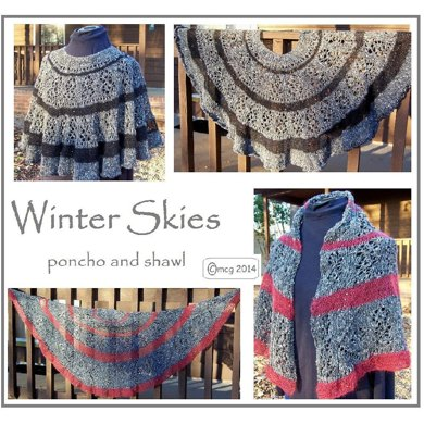 Winter Skies - shawl AND poncho
