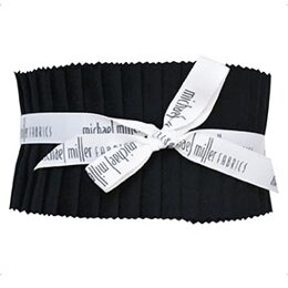"Michael Miller Fabrics Jet Black 2.5"" Strip Roll"