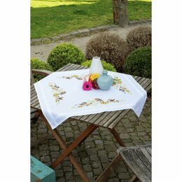 Vervaco Songbirds Embroidery Tablecloth Kit