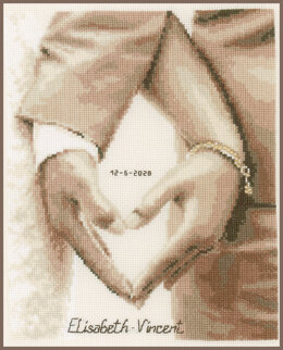 Vervaco Heart of Newlyweds Cross Stitch Kit - 21cm x 26cm