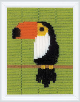 Vervaco Long Stitch Kit: Toucan - 12.5 x 16cm