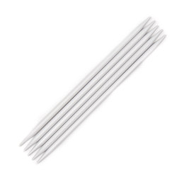 KnitPro Basix Aluminium Double Point Needles 15cm (Set of 5)