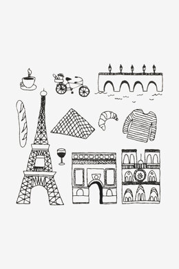 Paris in DMC - PAT0346 - Downloadable PDF