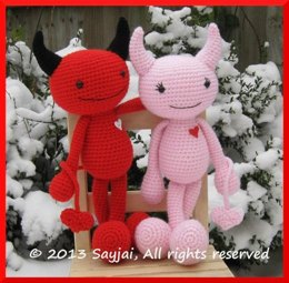 Devils in Love Amigurumi Crochet Pattern