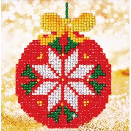 Diamond Dotz Red Bauble Cushion Kit - Multi