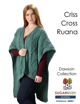 Criss Cross Ruana in Sugar Bush Yarns Dawson - Downloadable PDF