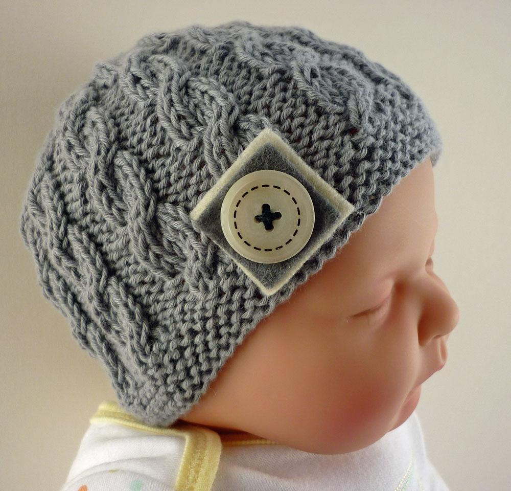 Knitting Patterns For Babies Loveknitting : Harper - Cabled Baby Hat Knitting pattern by Julie Taylor Knitting Patterns...