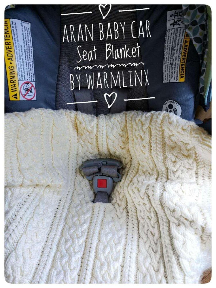 Aran Baby Car Seat Blanket Knitting Pattern By Warmlinx